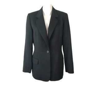 Pendleton 100% Virgin Wool Black Fitted Blazer 8